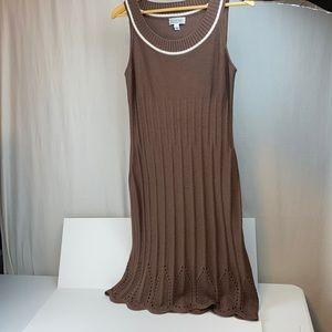 St John Sport brown sweater dress size P